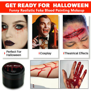 #1 HALLOWEEN PRANK FAKE BLOOD MAKEUP SCARY HALLOWIN WOUNDS FUNNY BLOOD PAINT