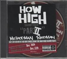 Method Man & Redman: Part II PROMO w/ Artwork MUSIC AUDIO CD How High Edit 15475