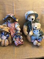 Muffy Vanderbear Family 1992 Picnic Cornelius Alice Fluffy Fuzzy Muffy 5 Bears