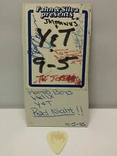 Mama's Boys Helix Y&T San Diego Concert Backstage Pass Signed + Guitar Pick 1985