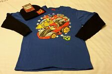 Beanie Hat Tee shirt  Set Boys Size 2XL 18 Angry Birds