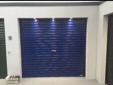 Blue navy or ocean Gliderol single skin manual roller shutter garage door green