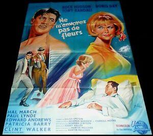 Send Me No Flowers ORIGINAL French 1p '65 POSTER Rock Hudson Doris Day Art