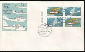 Canada FDC 1979 Flying Boats 35¢ UL PB sc#845-846