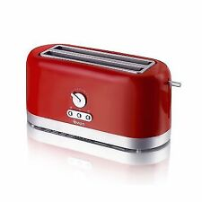 Swan 4 Slice Long Slot Toaster Red