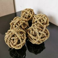 7cm Pet Chew Toy Woven Grass Ball For Rabbit Hamster Guinea Pig Toy Playing Fun