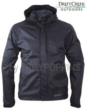DRIFT CREEK #7000 BLACK TUNDRA TECH CARGO MENS RAIN GEAR JACKET WET WEAR BEACH