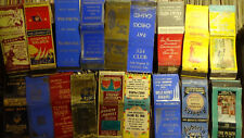 MATCHBOOK COLLECTION all Rare HOTELS CASINO 18 QTY 1930S-50S  ADS  LOT 4