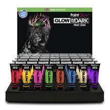 Glow In The Dark Hair Gel Bright Party Rave Festival Fancy Dress 10ml