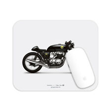 Honda CB750 Cafe Racer Motorcycle illustration Mouse Pad