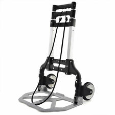 70KG ALUMINIUM INDUSTRIAL FOLDING HAND CART WHEEL TROLLEY SACK TRUCK HEAVY DUTY