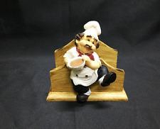Chef Napkin Holder, Poly Resin looks like Wood, Chef Decor