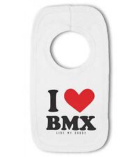 I love bmx comme mon papa/oncle/cousin-bavoir bébé