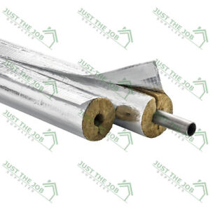 Rockwool Rocklap 1m Metre Foil Backed Pipe Insulation Lagging // 20 & 30mm Wall