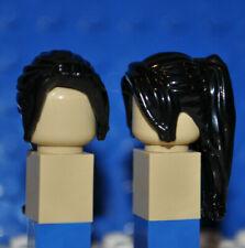 LEGO PARTS - 1X BLACK MINIFIGURE WIG/HAIR PIECE/FEMALE/GIRL/LONG PONYTAIL B