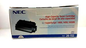 NEC 20-152 High Capacity Toner Cartridge Superscript 1400 1450 1450N New