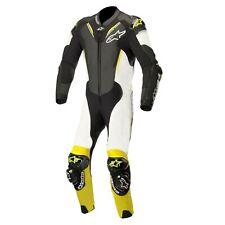 Alpinestars Atem V3 1 Piece CE Leather Motorcycle Motorbike Suit Black White Yel