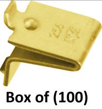 100 Knape & Vogt 256Br Brass Plated Shelf Support Clips for 233 & 255 Standards