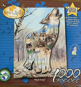 Serendipity WOLF SONG 1000 pcs Shaped Puzzle within a Puzzle (seal removed)
