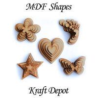 In legno MDF Confezioni Campione Cuori Stelle Farfalle Per Decorazione