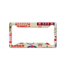 Travel Bicycle London Auto Car License Plate Frame Tag Holder 4 Hole