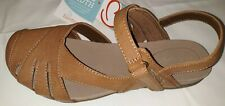 NEW women shoes Bare Traps TAN  MARY JANE  Slingback Sandals Alicity size 8 W