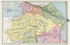 Carte Arménie Large Wall Art Imprimé Poster Photo LF2576