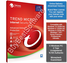 Trend Micro Internet Security 2018 3 PC 12 Months License Key Download Only