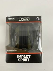 Howard Leight Impact Sport Digital Electronic Shooting Earmuff, Olive Drab Green