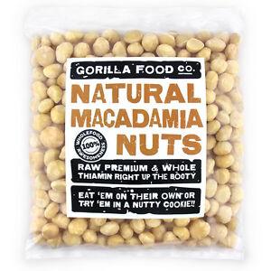 Gorilla Food Co. Macadamia Nuts Whole - 200g-3.2kg (Great value £ per 1kg)