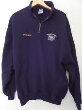 JERZEES Men's Sweaters Size-2X 1/4 Zipper Blue Very Good!