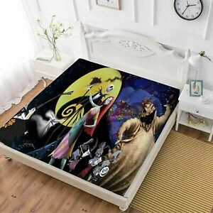 The Nightmare Before Christmas Fitted Sheet Set 3PCS Pillowcases Mattress Cover