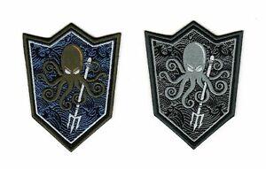 Tactical Morale Army Biker Motorcycle Patch Combat Octopus Harpoon