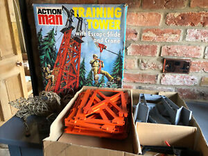 Vintage Action Man Training Tower Boxed Palitoy