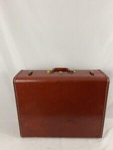 Vintage Samsonite Retro Orange Hard 24 Inch Luggage Suitcase