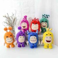 7PCS Oddbods Toy Plush Fuse Slick Bubbles Zee Pogo Jeff Newt Kids Birthday Gift