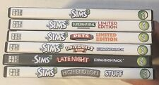 The Sims 3 PC CD Game Lot Expansion Packs Pets Supernatural Late Night And More