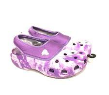 NWT Crocs Crocling Purple Haze Swirl Youth Child 1/3 Secure Fit Cayman for Kids