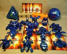 Bakugan Lot of 17 Aquos + 12 cards Razenoid Rubanoid 770g Iron Dragonoid 790g AA
