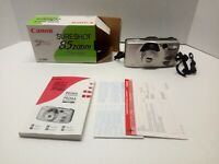 Vintage Canon Sure Shot 85 Zoom 35mm Camera Carry Strap Orig.Box & Manual Nice