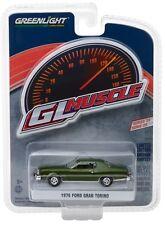 1:64 GreenLight *GL MUSCLE R20* DARK GREEN 1976 Ford Gran Torino *NIP*