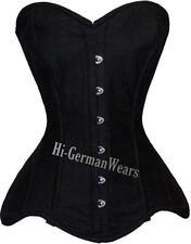 Heavy duty Steel Boned over Bust waist Training Gothic Black Cotton corset hi-76