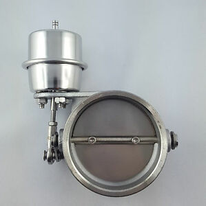 Abgasklappe Auspuffklappe 70mm (2,7 Zoll)  pneumatisch Universell Klappen-Auspuf