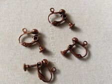 Antique Copper Clip On Screw On Earring Findings X4 (2Pairs) 🇬🇧UK SELLER