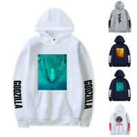 Godzilla King of the Monsters Dragon Hoodie Tops Cotton Pullover Sweather Movie