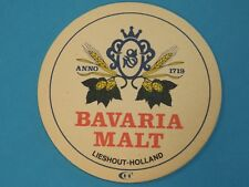 Vintage Beer Coaster Mat ~**~ BAVARIA BIER ~*~ Lieshout, Holland ~*~ Staanplaats
