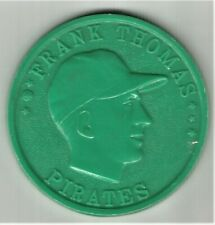 1959 Armour Coin - Frank Thomas - Pale Green w/white swirls - Mint!