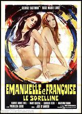 EMANUELLE E FRANÇOISE LE SORELLINE MANIFESTO CINEMA FILM D'AMATO 1976 POSTER 2F
