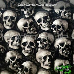 ROLLED - DEADHEADS Hydrographics Film Hydro Dipping Graphic Dip UK Skulls