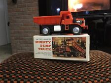 VINTAGE Tomiyama Mighty Dump Truck JAPAN Battery Operated
